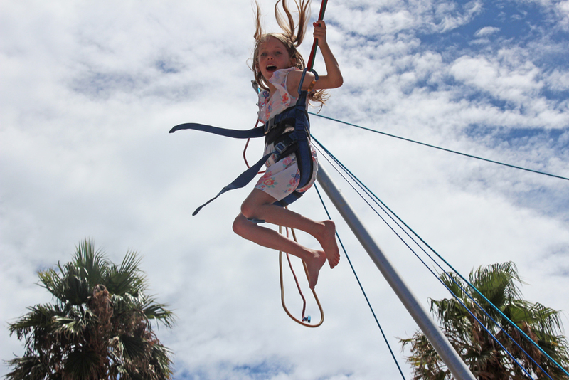 bungy trampoline, bungee trampoline, glenelg foreshore, fun for kids in summer  - Pacific Fly Motion Bungy Trampoline
