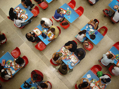 food court, eating, family food
