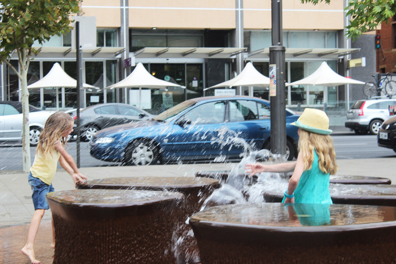 fountain, 14 pieces, adelaide public art, adelaide water feature, water fun  - South Australian Museum's Water Fountain