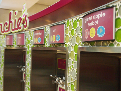 menchies, frozen yoghurt, food for kids, fun food, rundle mall, adelaide myer centre