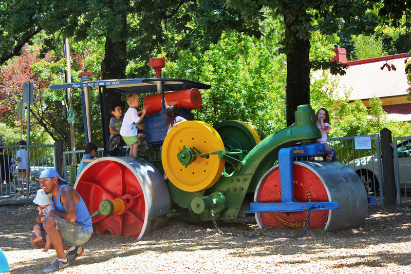 fun ideas for outdoor family pictures - steamroller park adelaide hills parks playgrounds